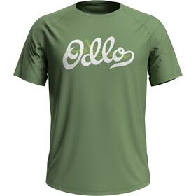 Odlo Concord Crewneck T-shirt Heren, green eyes/odlo mountain print